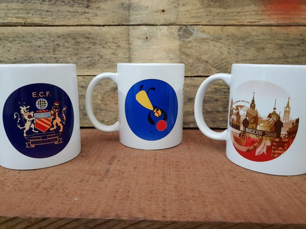 Image of Set of 3 Europian Football mug