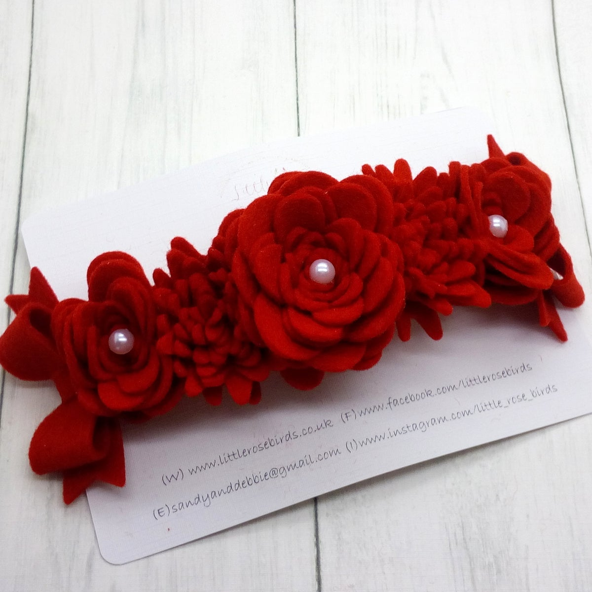 Image of Luxury Red Flower Headband