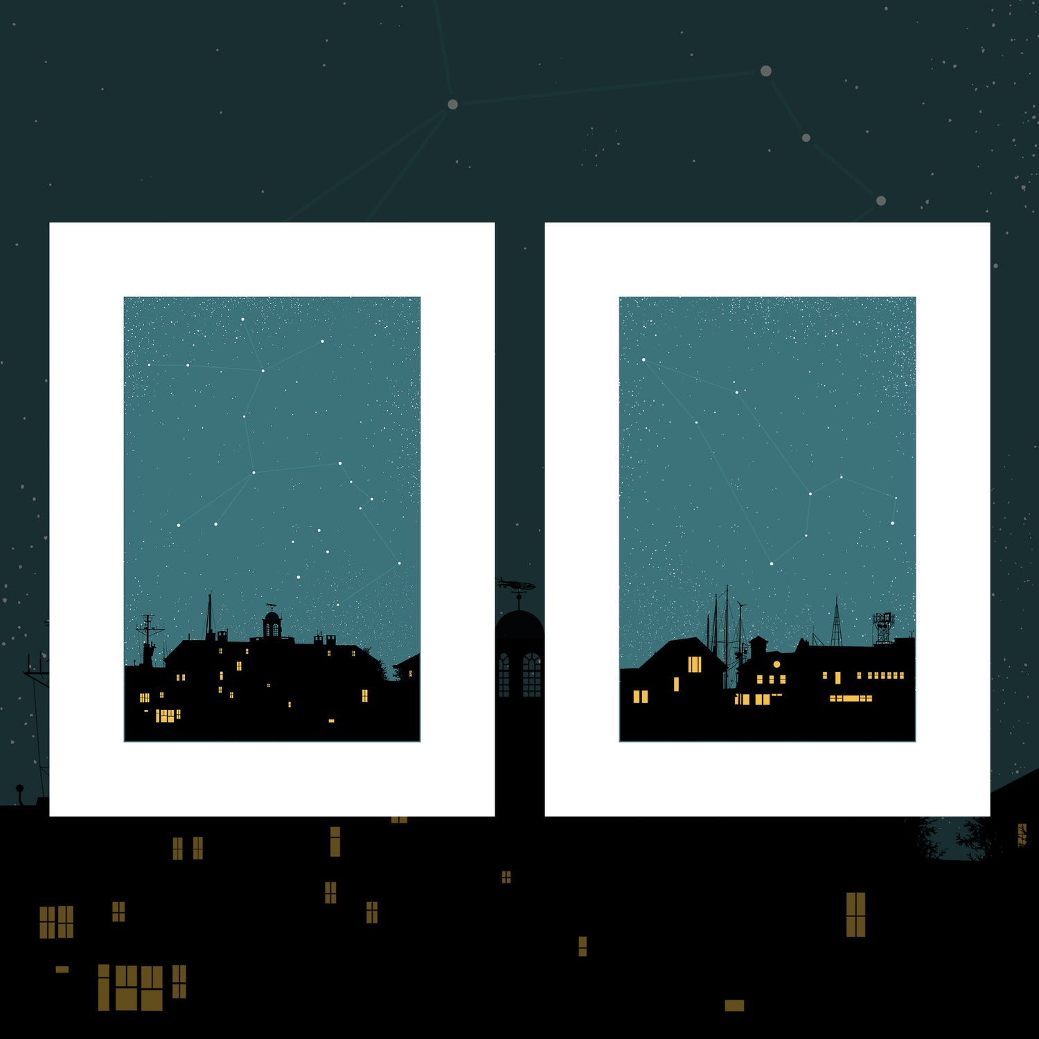 "Image of ""Night on Earth"" - 3 & 4 - Centaurus & Leo - 2 print set"