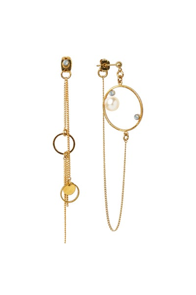 Image of Boucles d'oreilles BUBBLE CERCLE strass