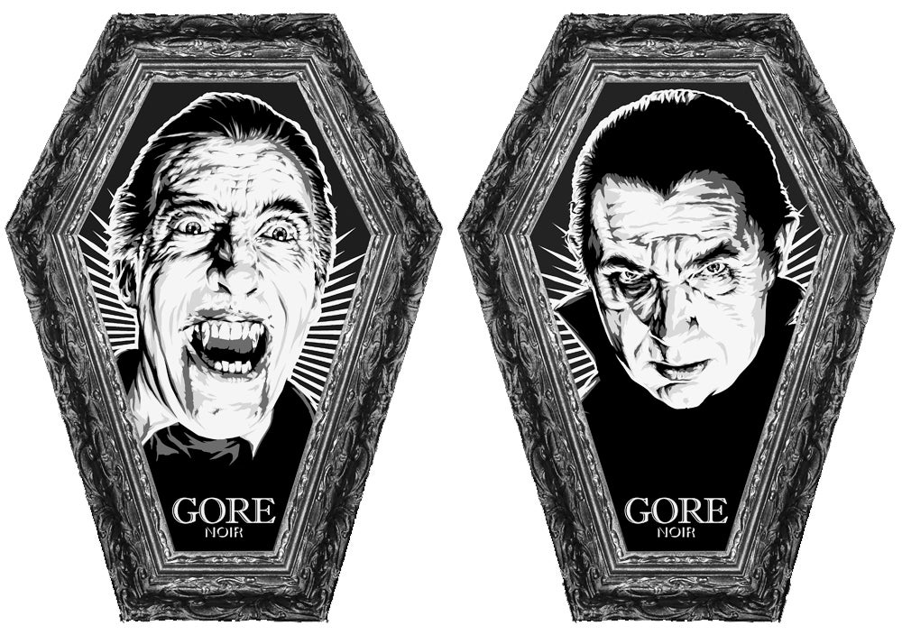 Image of Dracula Coffin Shaped B&W Magazine Limited Edition