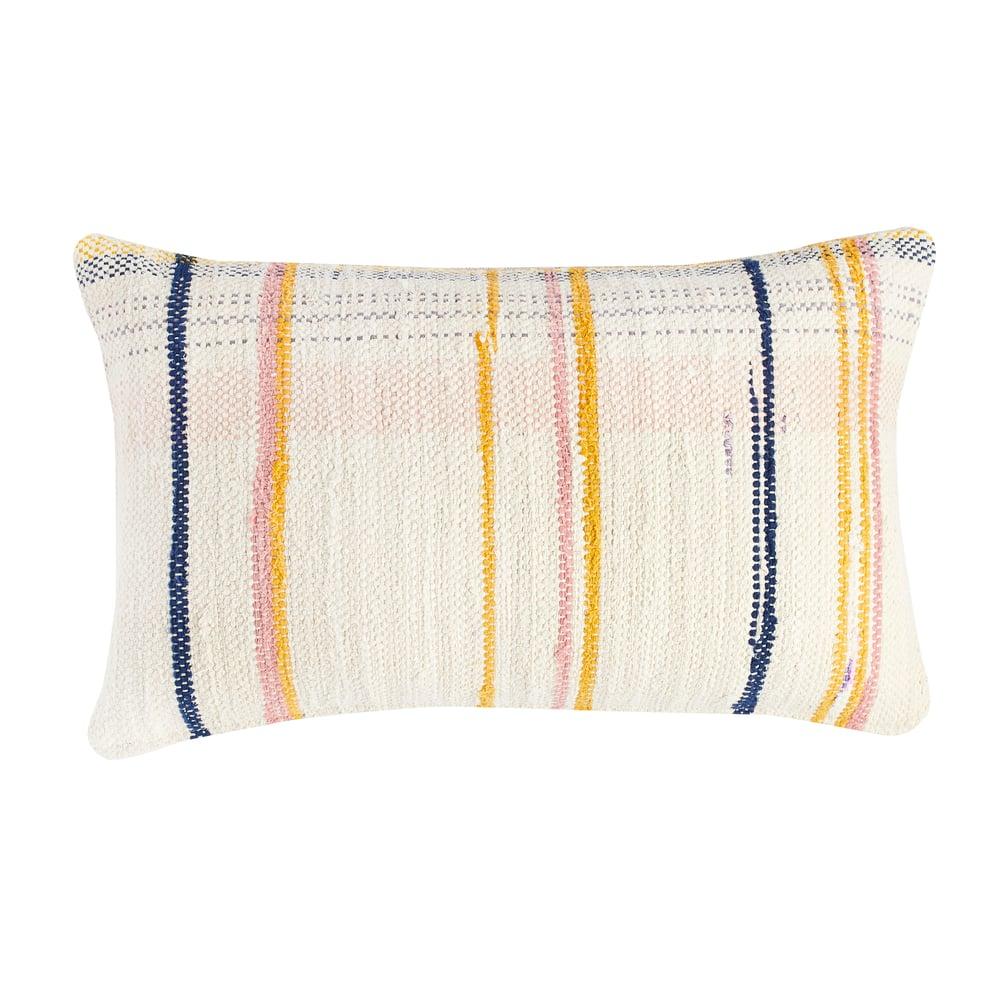 Image of O s m i n g t o n Stripe cushion, vanilla