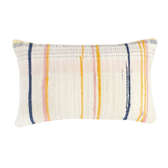 Image of O s m i n g t o n Stripe cushion, vanilla