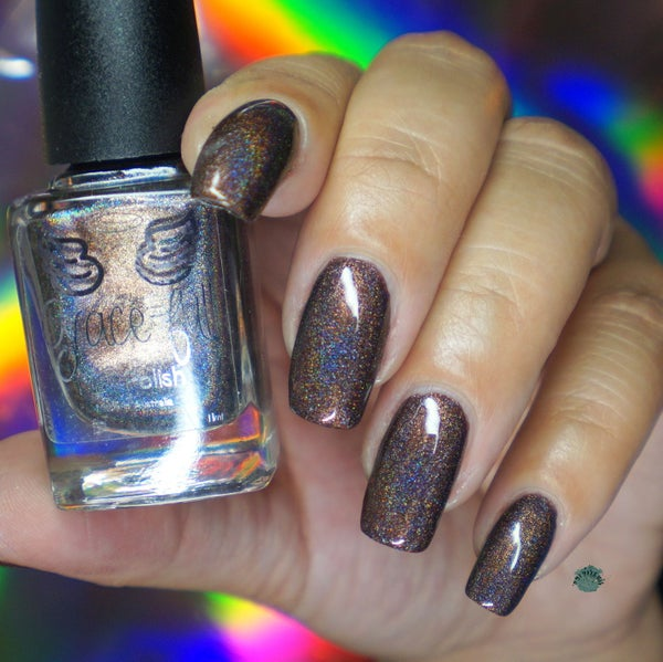 Image of Under his brow - deep brown linear holo