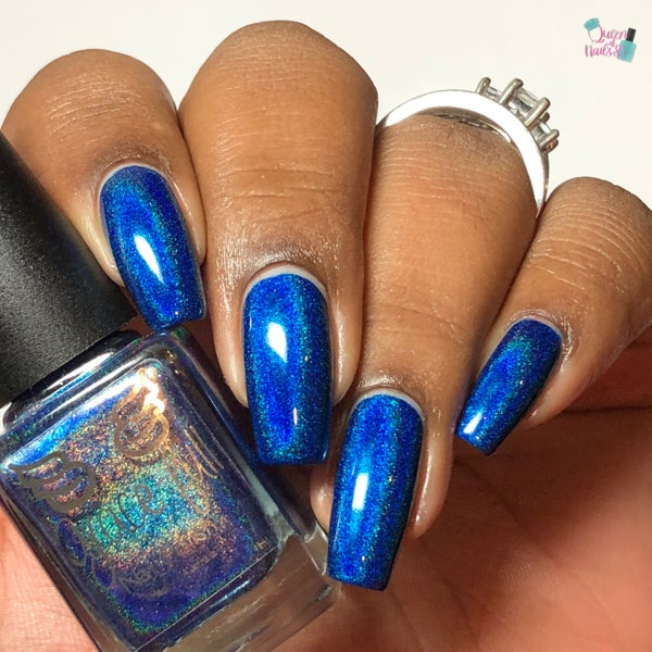 Image of Guardians-  rich French Navy linear holo