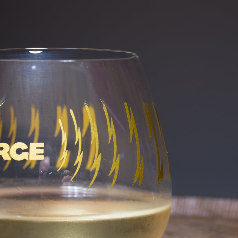 Image of Gold Logo Stemless Wine Glass