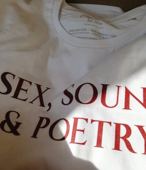 "Image of MEN'S T-shirt ""Sex, Sound & Poetry"""