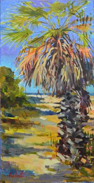 Image of Palm Swaying by Violetta Chandler