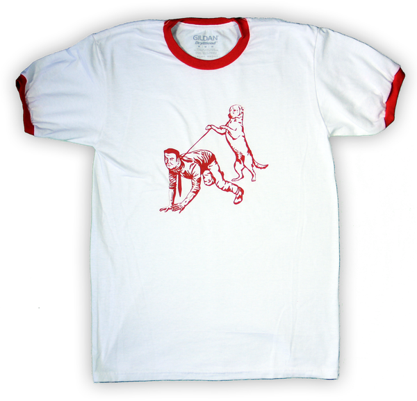 Image of Human Walking Ringer Tee