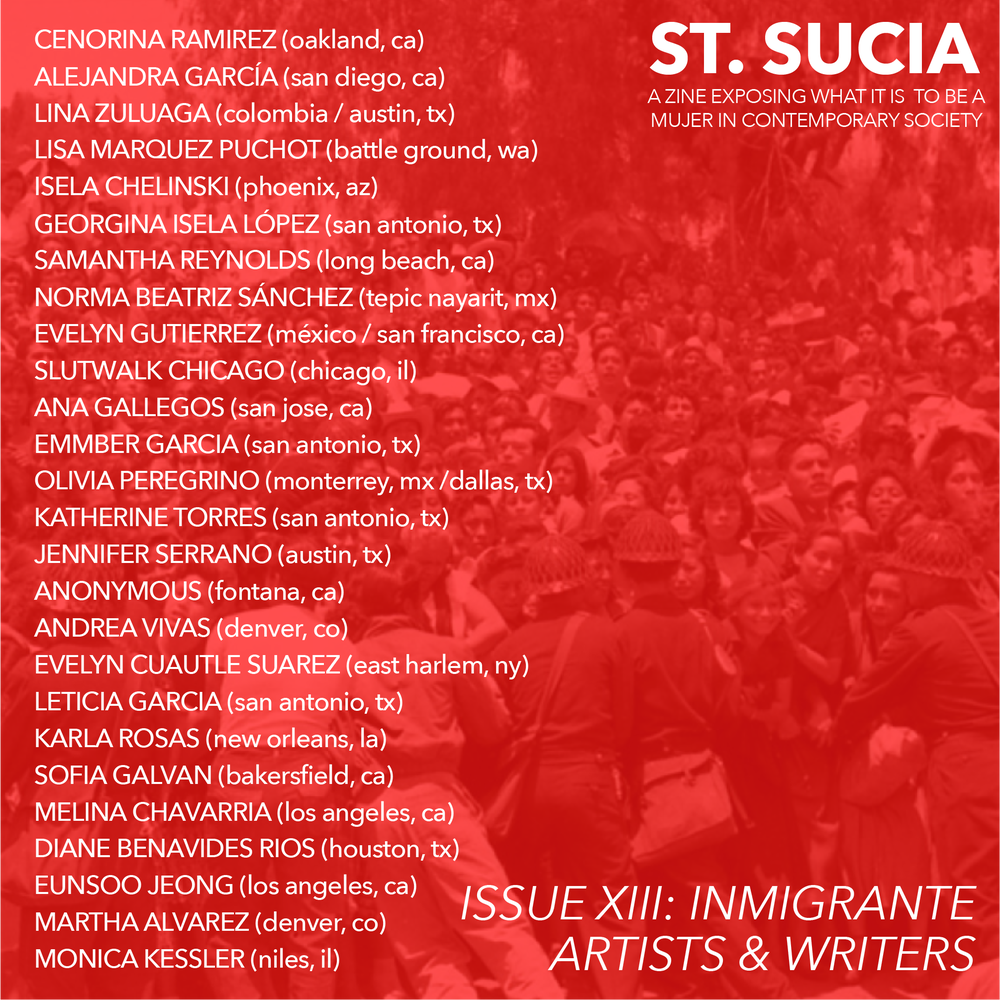Image of St. Sucia Issue XIII: Inmigrante + Letter From Raymondville, TX Jail
