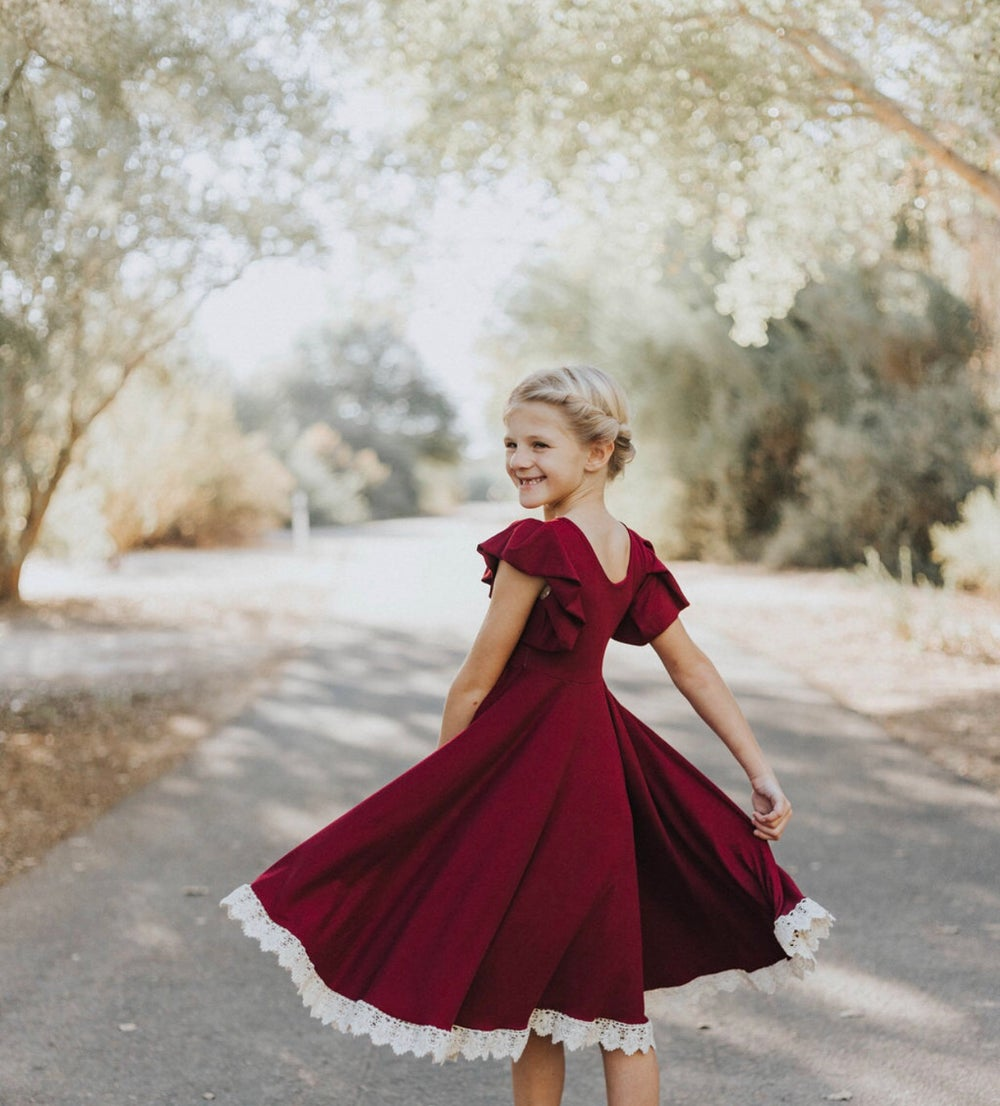 Image of Baby/Girls • Red Wine • Holiday Dress