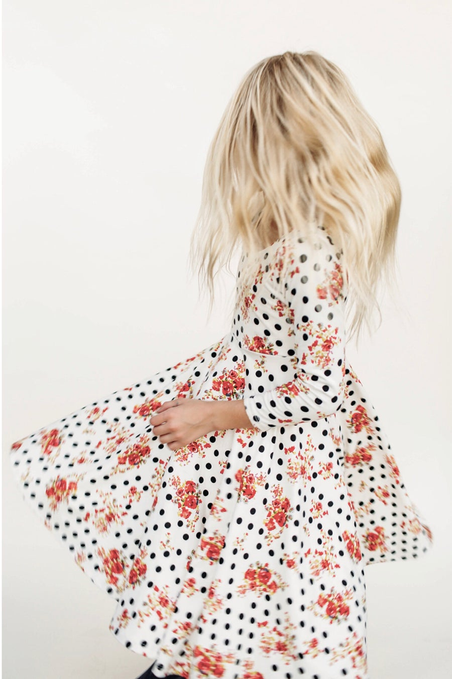 Image of Baby/Girls • Polka Floral  • Twirly Dress