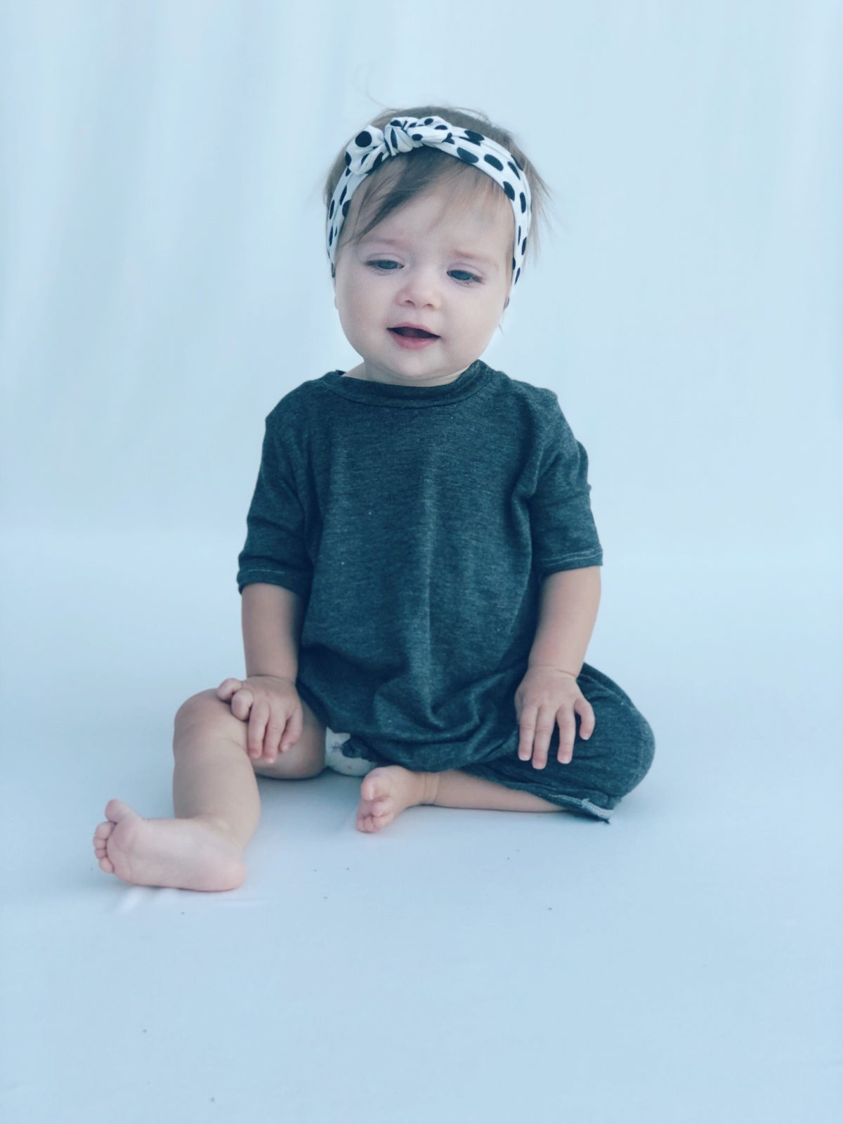 Image of Baby/Girls * Heather Grey * Knot Knit Dress