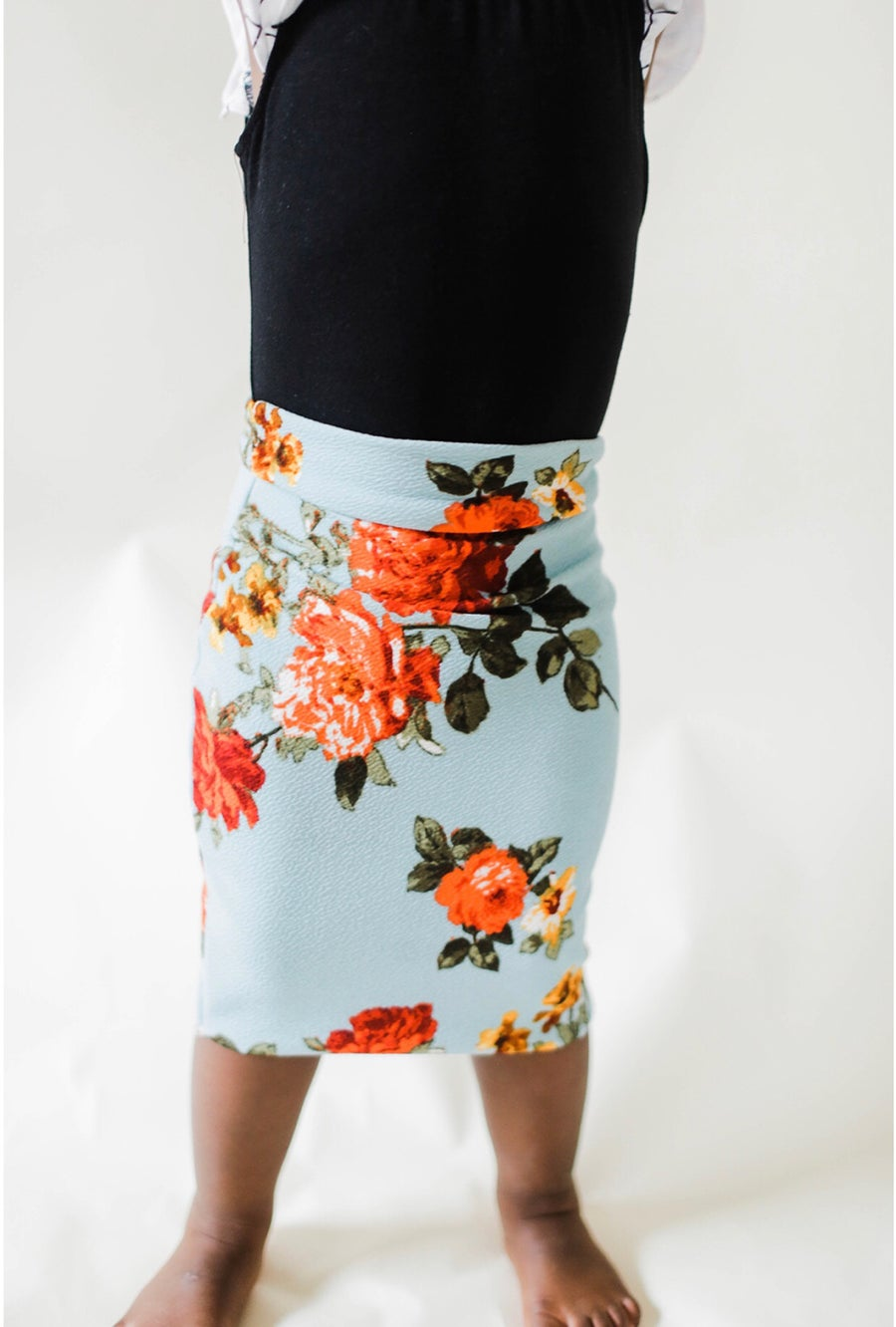 Image of Baby/girls • Tangerine Rose • Pencil Skirt