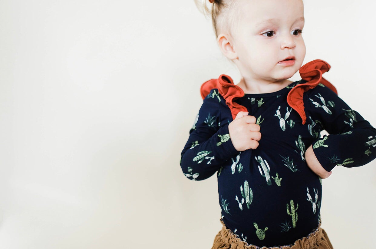 Image of * NEW Perfect Ruffle Bodysuit Cool Cactus