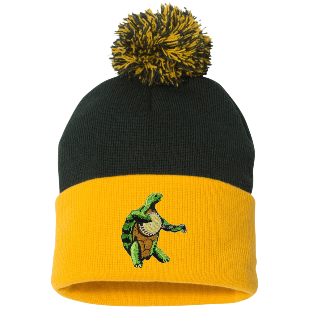 Image of TERRAPIN Embroidered POM POM BEANIES!!!