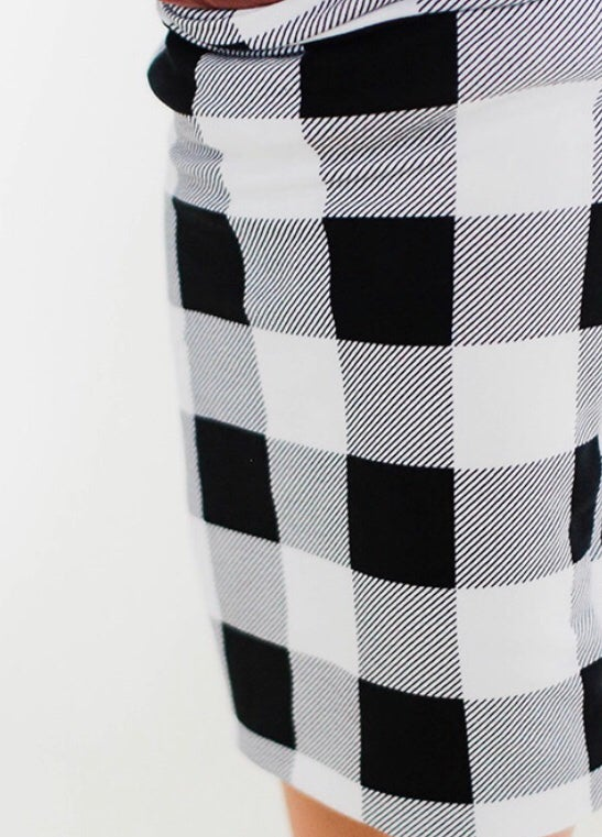 Image of Women's * Black Plaid Magic * Pencil Skirt