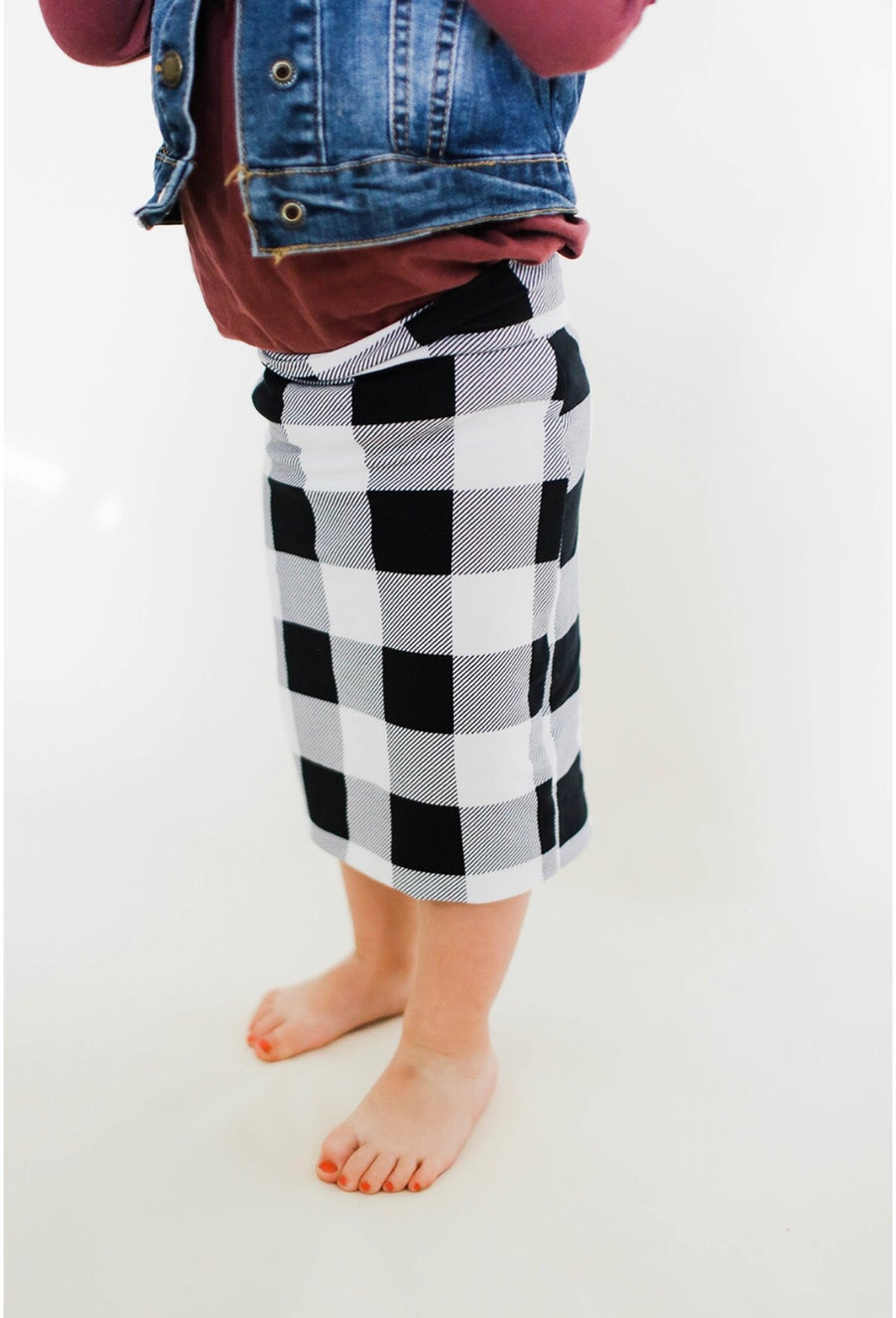 Image of Baby/Girls • Black Magic Plaid • Pencil Skirt