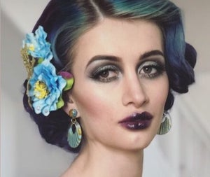 Image of Floral Dreams Delight Hair Flower - Blue