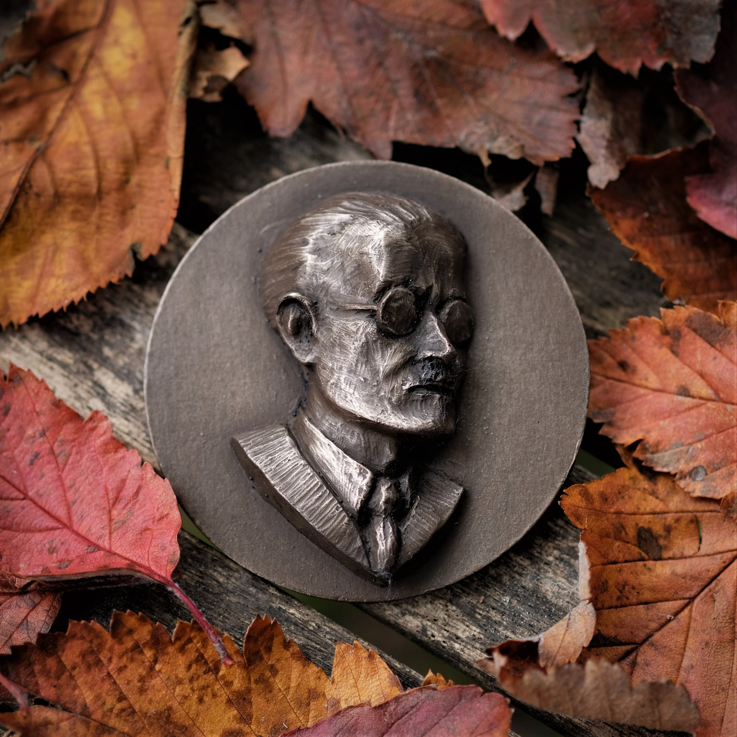 Image of JAMES JOYCE PORTRAIT - bronzed medallion