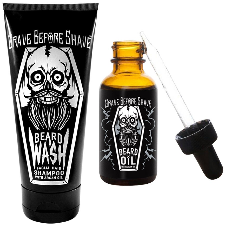 Image of Beard Wash & Enhanced Formula Beard Oil combo