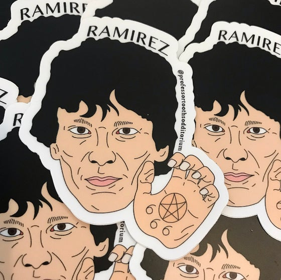 Image of Die Cut Richard Ramirez Vinyl Sticker