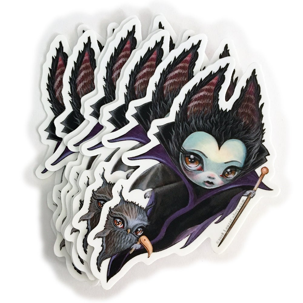 Image of Maleficent and Raven Sticker