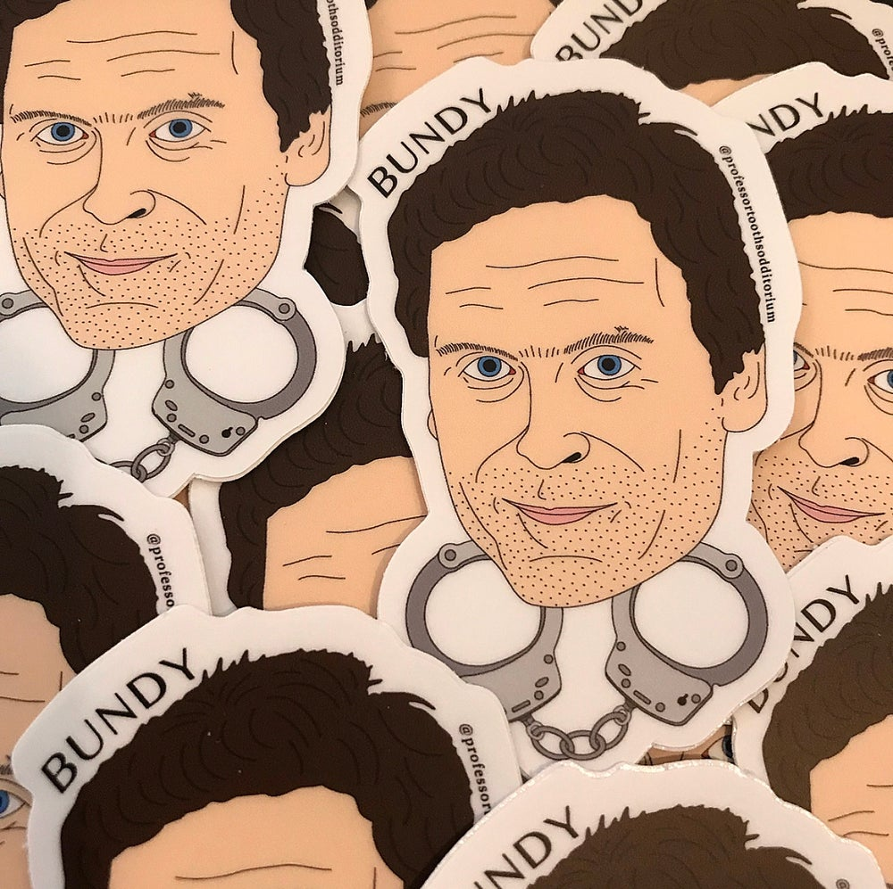 Image of Die Cut Ted Bundy Vinyl Sticker