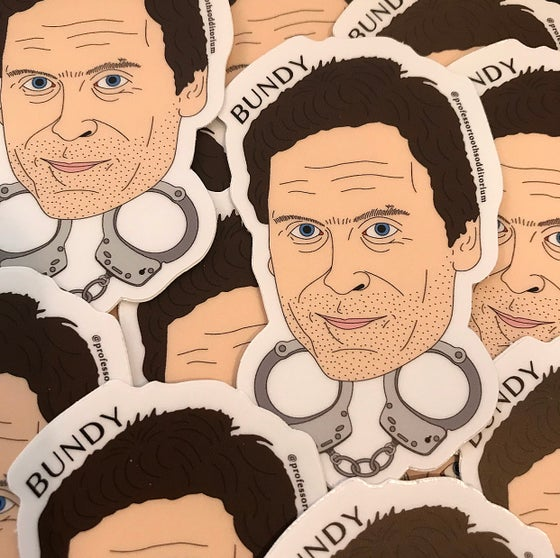 Image of Die Cut Ted Bundy Vinyl Sticker
