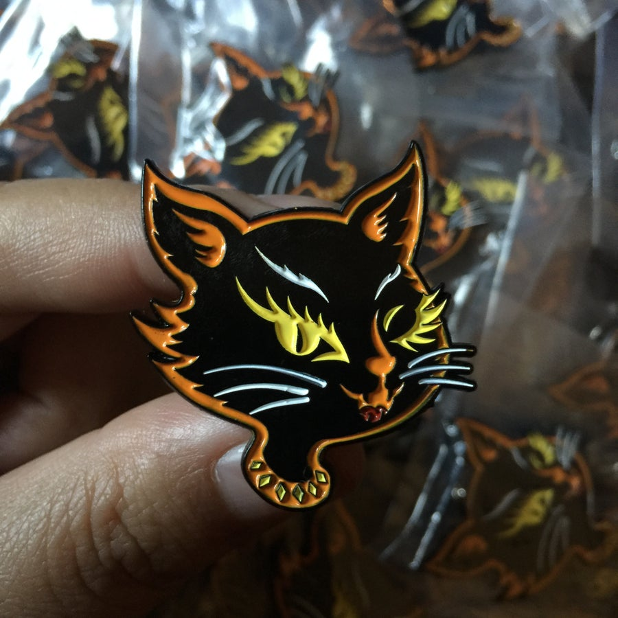 Image of Kreepy Cat Enamel Pin