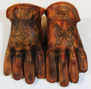 Image of Witch's Brew custom leather gloves #16A