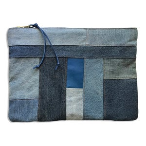 Image of PATCHWORK TILE POUCH - TOPAZ