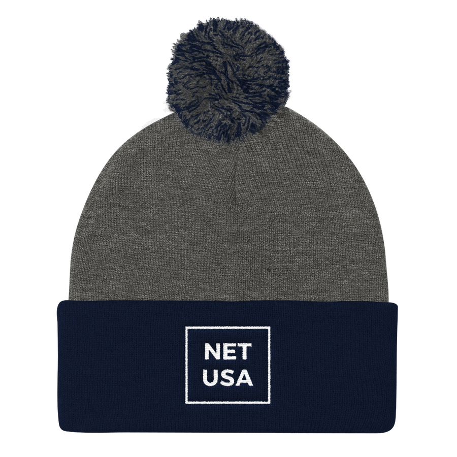 Image of NET USA Pom Knit Beanie