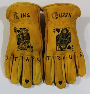 Image of King Queen custom leather gloves #15 A