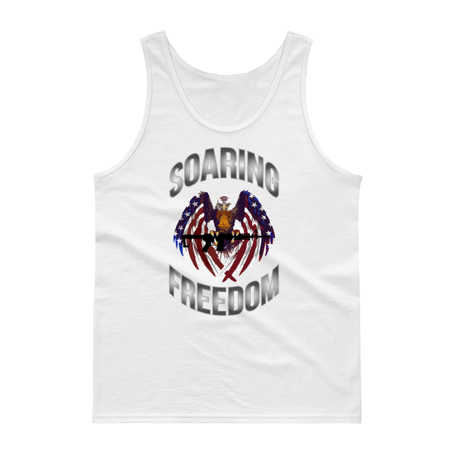 Image of SOARING FREEDOM MEN'S TANK TOP