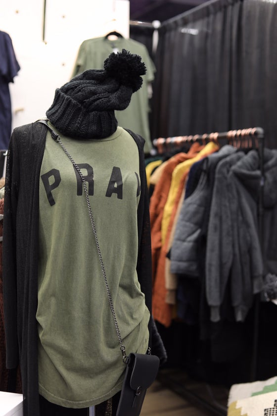 Image of Pray long-body Tee