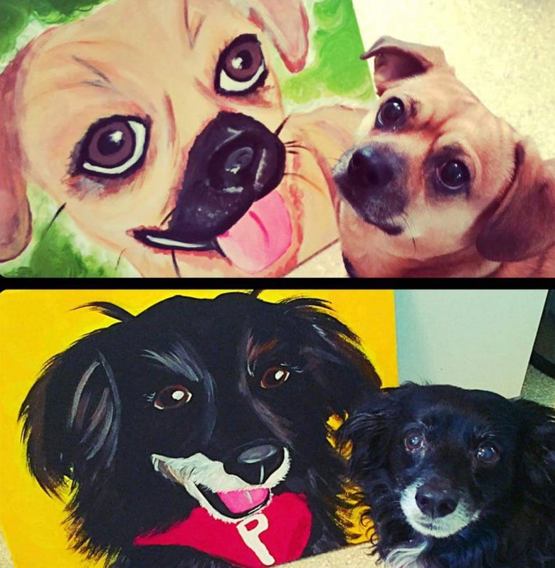 Image of Paint your pet Saturday March 16th Y 5 -7PM - FAMILY CLASS!