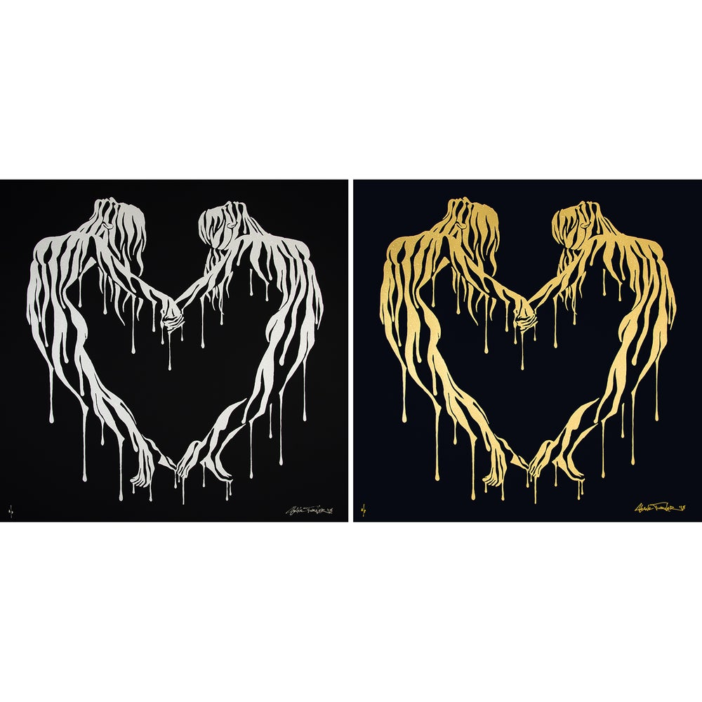 Image of Making Love - Gold/Silver Variants- 60x60cm Screen Prints