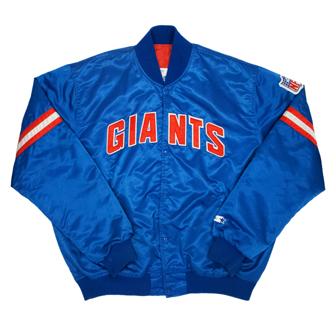Image of Starter Vintage Satin Giants Team Vasity Size XL