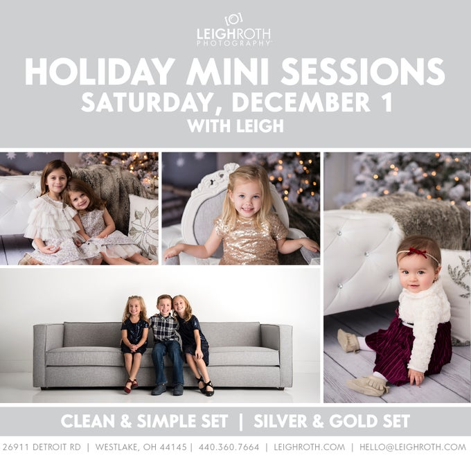 Image of HOLIDAY MINI SESSIONS - SATURDAY, DECEMBER 1 with Leigh