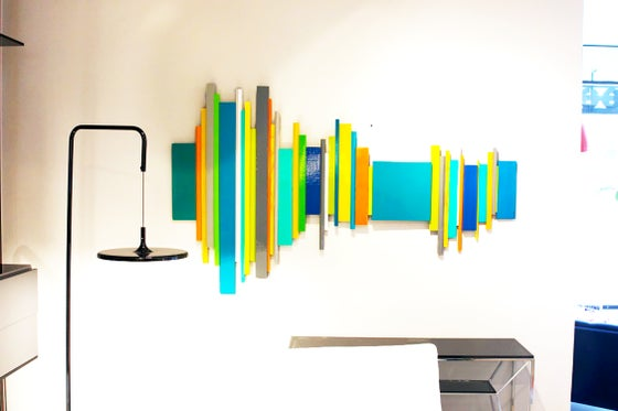 Image of 'SOUNDWAVE NO 16.3' | 3D Wall Sculpture | Modern Abstract Painted Wood Art | Modern Art
