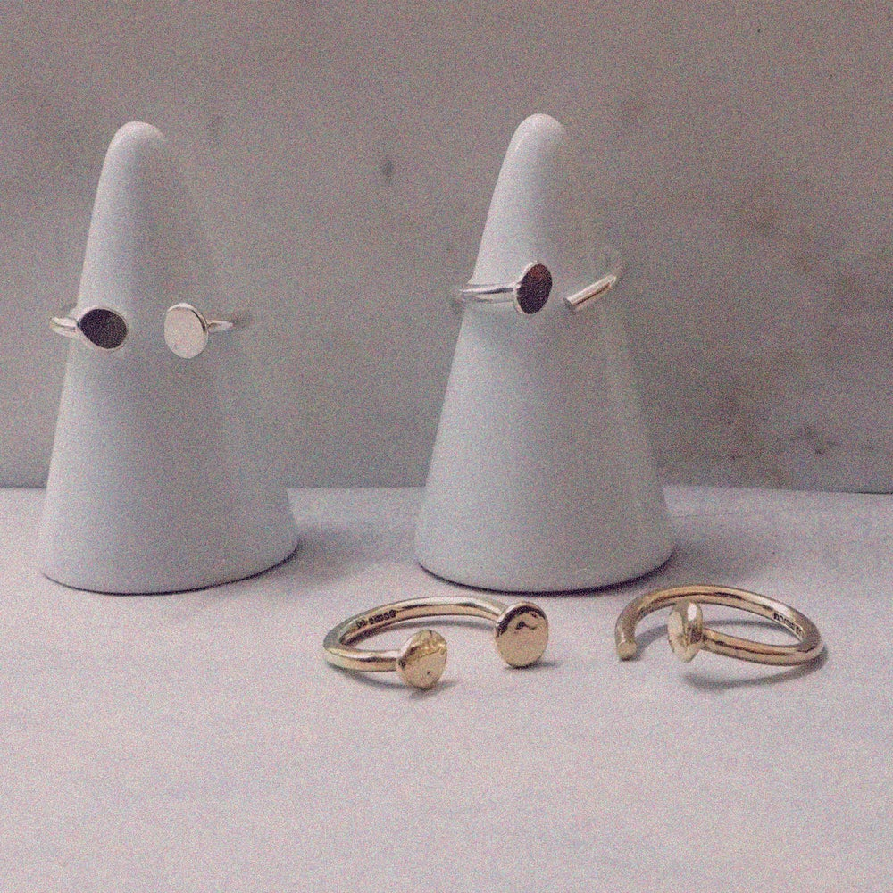 Image of Paola Pebble Cuff Ring Mark II