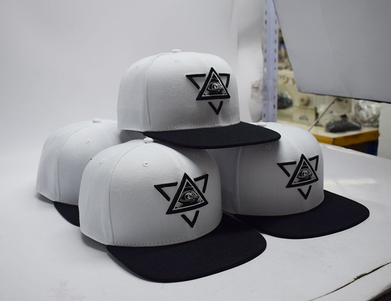 Image of Limited Embroidered Merkaba Snapback white
