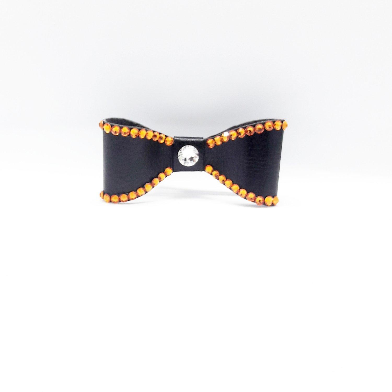 "Image of ""Topaz Orange"" Crystal Bling Hair Bow"