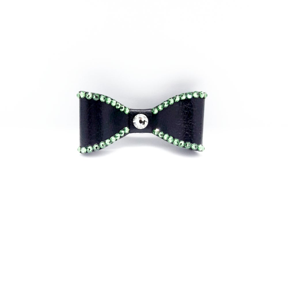 "Image of ""Olivine"" Crystal Bling Hair Bow and/or Hair Bobby Pin Set"
