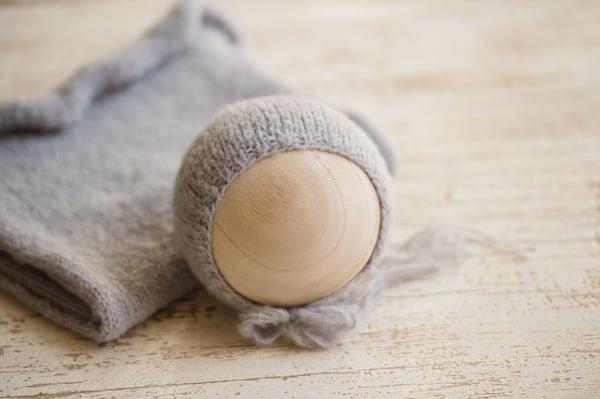 Image of Stretchy Brushed Flannel Basic Bonnet + Wrap