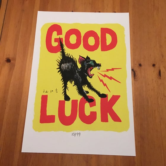 Image of GOOD LUCK- 13x19 FINE ART PRINT ON WATERCOLOR PAPER-EDITION OF 99-SIGNED AND NUMBERED