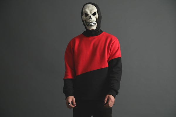 Image of Spooky Color Block Sweater