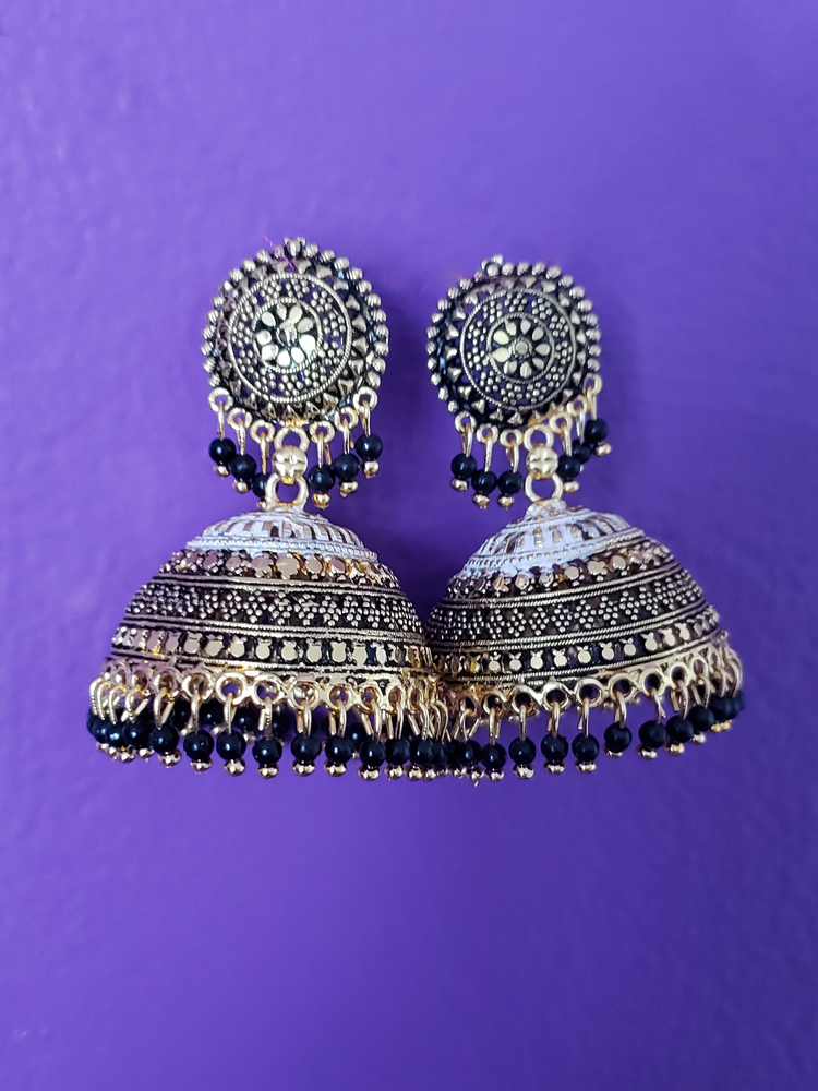 Image of Nisha Jhum Chandelier Earrings