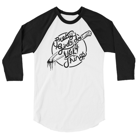 Image of Pretty Girls UNISEX Raglan Tee